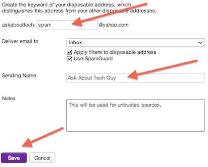 How to create a disposable email address in Yahoo - Ask About Tech