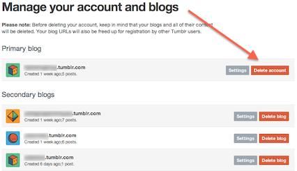 How to delete Tumblr account - Ask About Tech