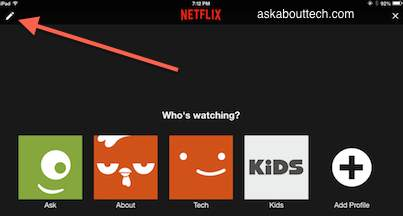 Netflix change profile