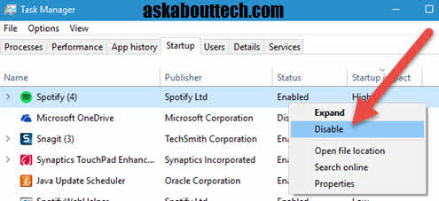 how to get program to start on startup windows 8